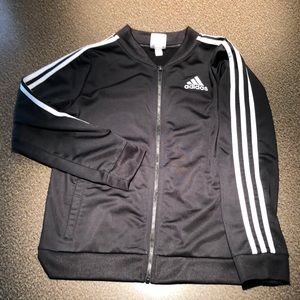 Youth adidas zip up jacket with pockets
